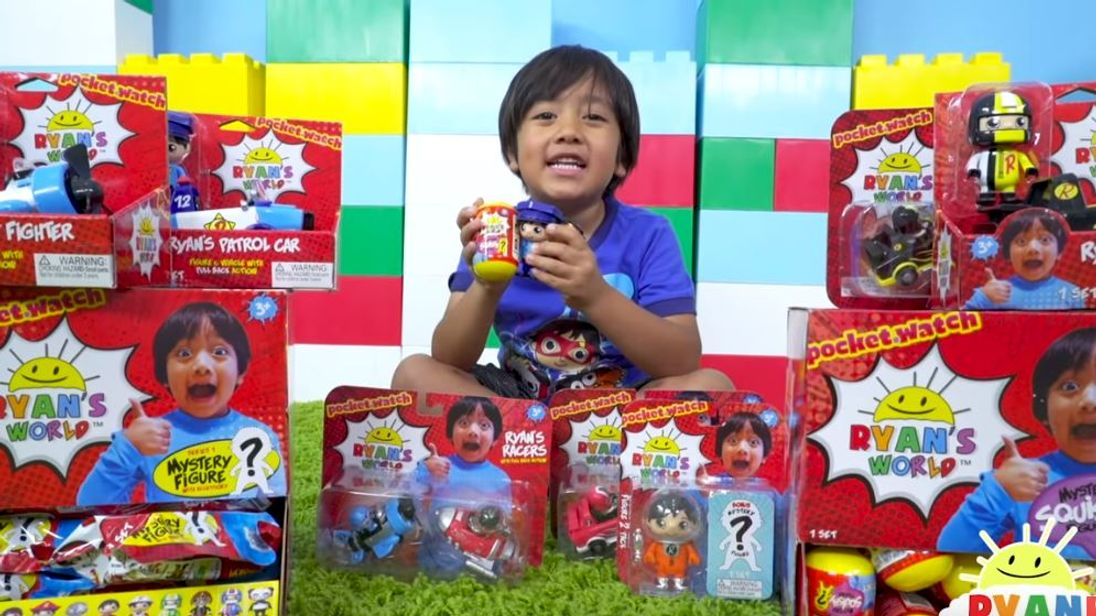 Ryan is the highest-earning YouTuber in the world. Pic: YouTube/RyanToysreview