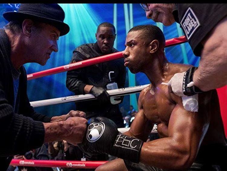 Sylvester Stallone and Michael B Jordan in Creed II