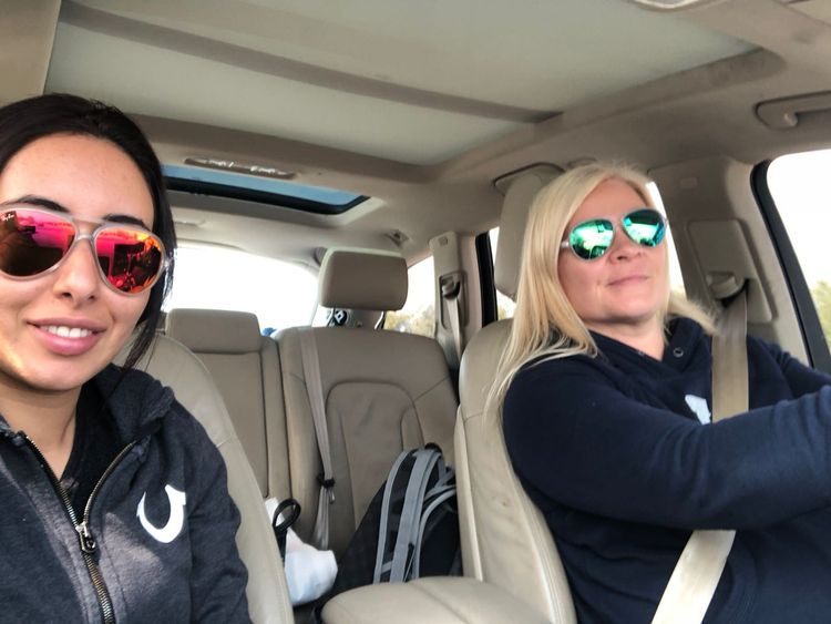 Latifa and Tiina on the day of the escape. Pic: Detained in Dubai
