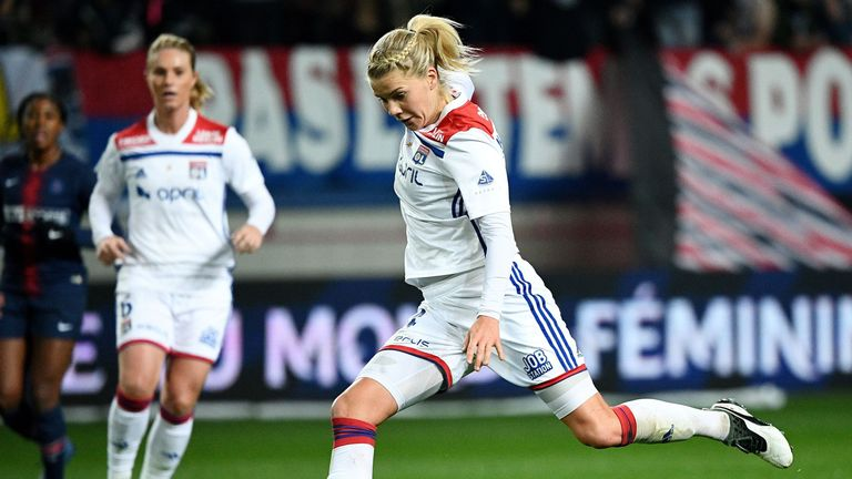 The Norwegian striker is a key player for French side Lyon