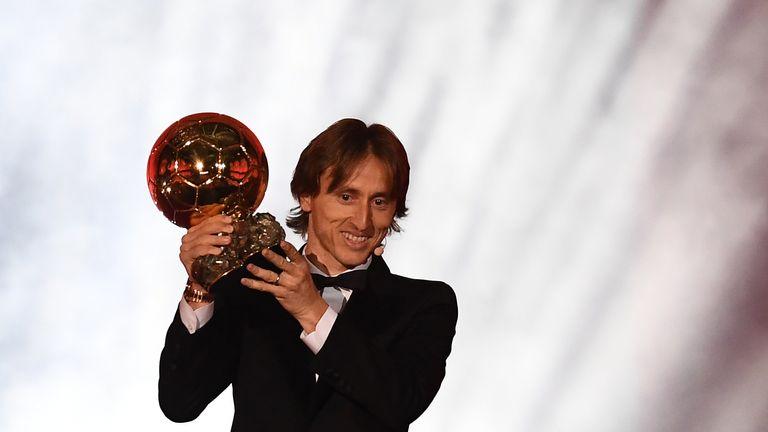 Luka Modric won the men's award