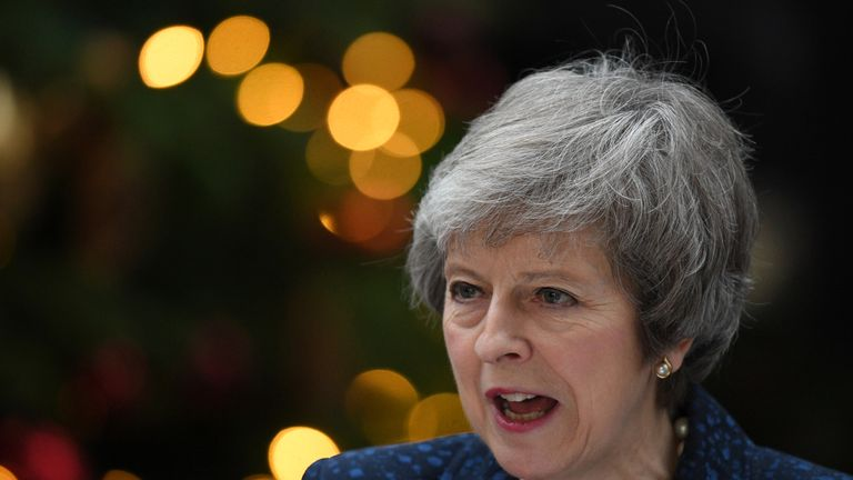 Theresa May faced a vote of confidence