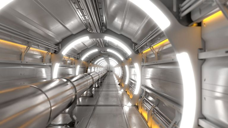 How the new collider may look inside. Pic: CERN