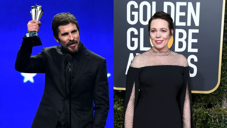 Christian Bale and Olivia Colman both won awards at the Critics' Choice Awards