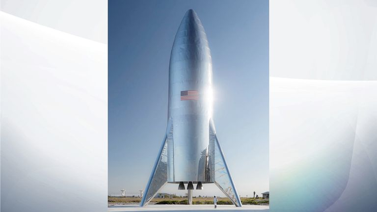 The picture of SpaceX's new rocket Starship. Pic: Elon Musk