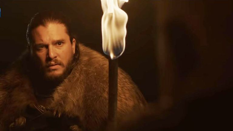 Jon Snow in Game Of Thrones final season. Pic: Sky Atlantic