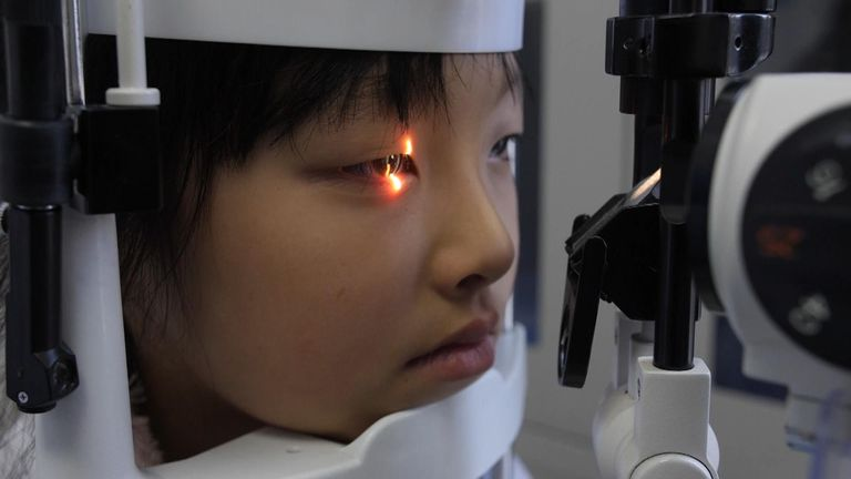 Roughly half of the population of China is expected to have myopia by 2020