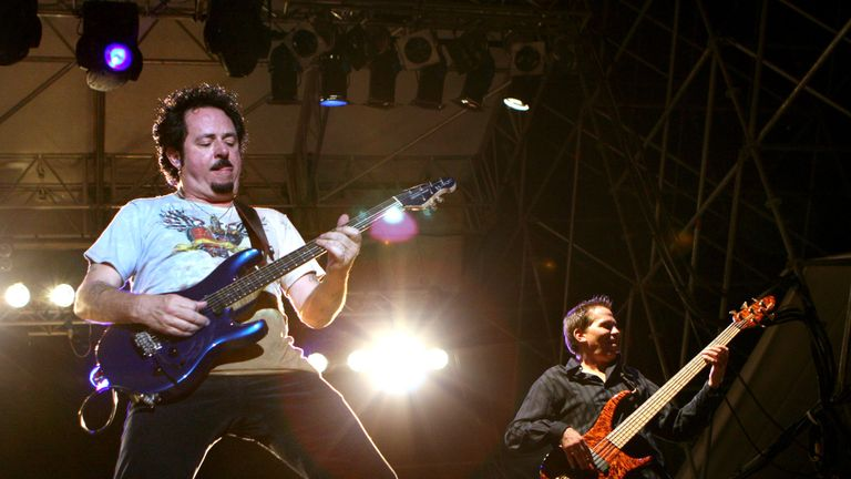 Steve Lukather and Mike Porcaro, from Toto, in 2006