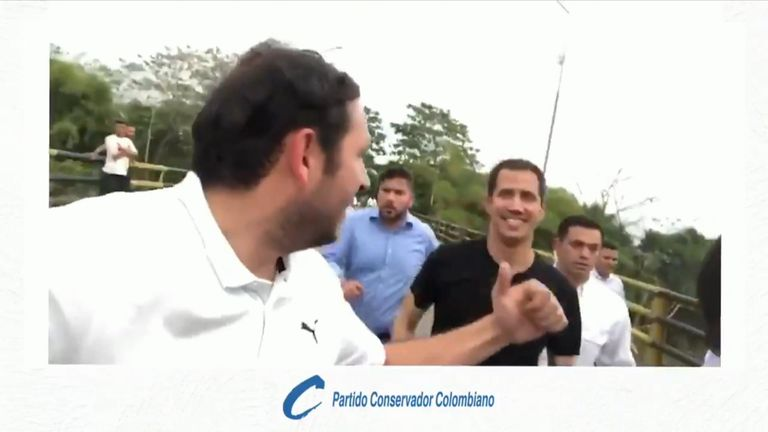 Guaido was helicoptered to the Tienditas bridge, where he attended a benefit concert organised by billionaire Richard Branson.