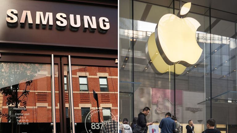 Samsung and Apple are both slipping in terms of their hold on the smartphone market